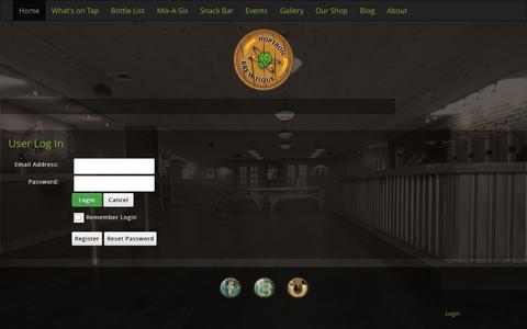 Screenshot of Login Page hoptronbrewtique.com - User Log In - captured July 24, 2015