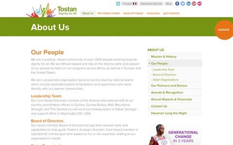Screenshot of Team Page tostan.org - Our People | Tostan - captured Feb. 23, 2016