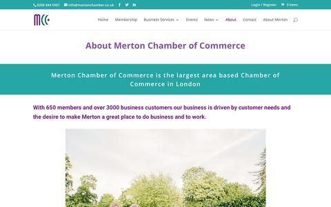 Screenshot of About Page mertonchamber.co.uk - About - Merton Chamber of Commerce - captured Oct. 18, 2018