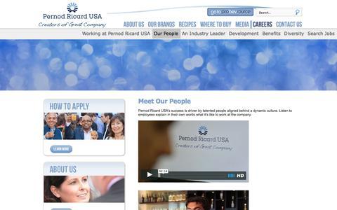 Screenshot of Team Page pernod-ricard-usa.com - Careers - captured Dec. 8, 2015