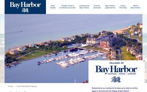 Screenshot of Signup Page bayharbor.com - Email Newsletter Signup | Bay Harbor Properties - captured Oct. 5, 2018