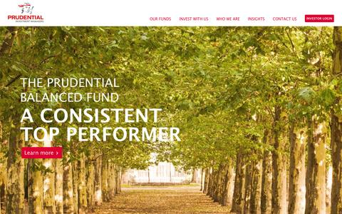 Screenshot of Home Page prudential.co.za - Prudential - Investment Managers - captured Sept. 23, 2014