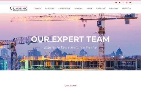 Screenshot of Team Page ccorpusa.com - International Project Management and Cost Consulting Experts - captured Nov. 11, 2018