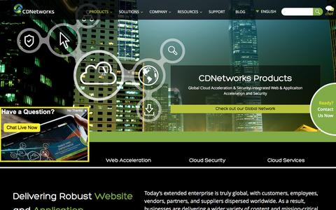 Screenshot of Products Page cdnetworks.com - Global Cloud Acceleration | CDNetworks - captured May 31, 2016