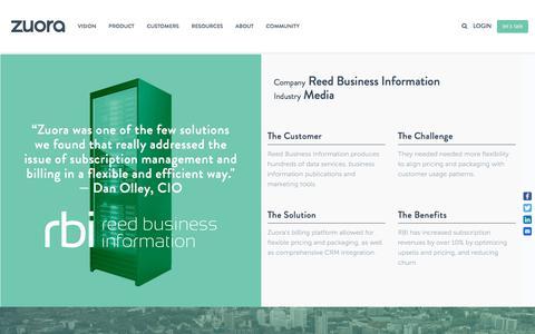 Screenshot of Case Studies Page zuora.com - Reed Business Information Case Study - Zuora - captured Sept. 11, 2017