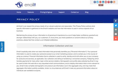 Privacy Policy | Email It