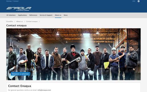 Screenshot of Contact Page grundfos.com - Contact enaqua| Grundfos - captured Sept. 26, 2018
