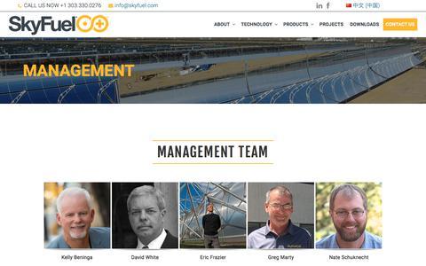 Screenshot of Team Page skyfuel.com - Management – SkyFuel Inc. - captured Oct. 21, 2017