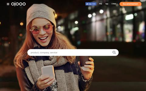 Screenshot of Home Page ojooo.com - Ojooo - captured June 22, 2019