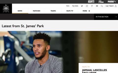 Screenshot of Press Page nufc.co.uk - NUFC - News - captured June 24, 2017