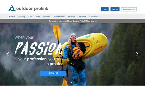 Screenshot of Home Page outdoorprolink.com - Outdoor Prolink - Where the Pros Get Their Gear - captured Oct. 7, 2018