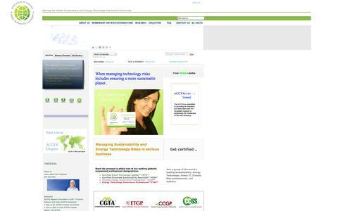 Screenshot of Menu Page theacgta.org - Association of Certified Green Technology Auditors Global ™ Inc. - captured Oct. 4, 2014