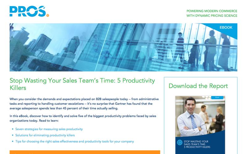5 Productivity Killers | PROS Resources | PROS