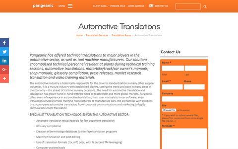 Automotive Translations - Pangeanic Translations