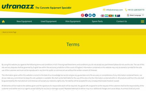Screenshot of Terms Page utranazz.com - Terms | Concrete Pump | Cement Silo | Batching Plant | Utranazz - captured Sept. 20, 2018