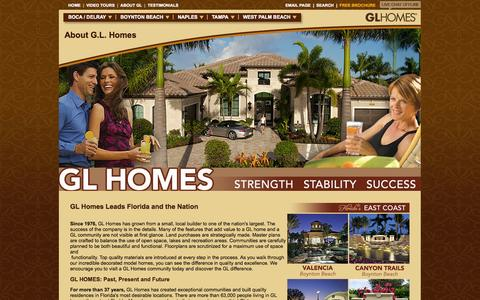 Screenshot of About Page glhomes.com - GL Homes has sold over 26,000 homes since 1976 - captured Sept. 19, 2014