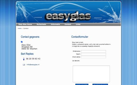 Screenshot of Contact Page easyglas.nl - Easy Glas - Contact gegevens - captured Sept. 29, 2014