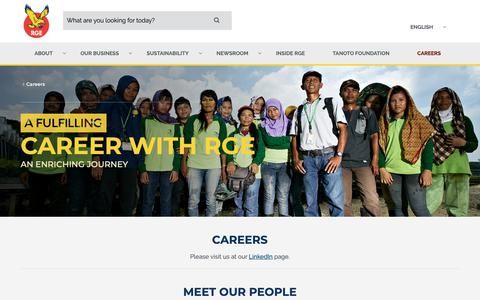 Screenshot of Jobs Page rgei.com - A Career at RGE | Job Vacancy - RGEI.com - captured Nov. 17, 2018