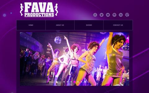 Screenshot of Site Map Page favaproductions.com.au - Sitemap - captured Jan. 8, 2016