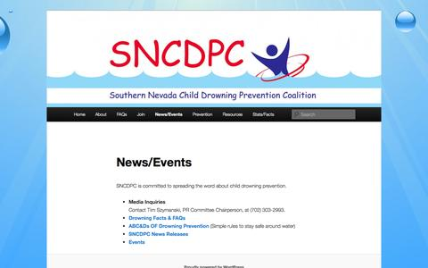 Screenshot of Press Page sncdpc.org - News/Events | Southern Nevada - captured Oct. 6, 2014