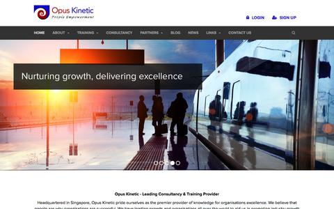 Screenshot of Home Page opuskinetic.com - Opus Kinetic - Leading Consultancy & In-house Training Providers - captured Oct. 21, 2017