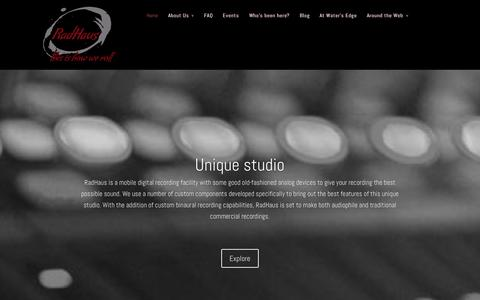 Screenshot of Home Page penthausla.com - RadHaus | Mobile recording studio, VO recording facility, mixing, mastering, audio and video production in Los Angeles - captured Sept. 29, 2014