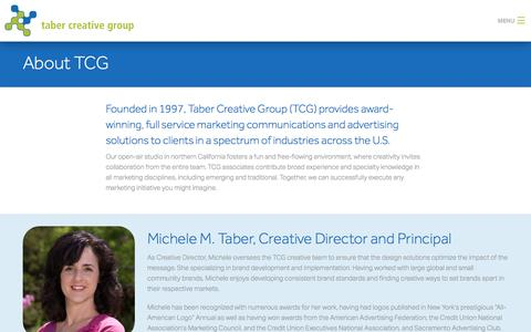 Screenshot of About Page tabercreative.com - About TCG Team  | Marketing in Roseville CA - captured Nov. 28, 2016