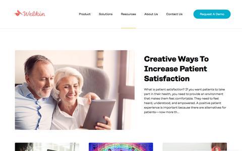 Screenshot of Blog welkinhealth.com - Welkin Health - captured Dec. 12, 2019