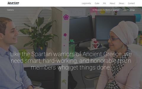Screenshot of Jobs Page spartanbio.com - Careers | Spartan Bioscience - captured Oct. 18, 2018