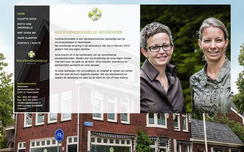 Screenshot of Home Page kvgadvocaten.nl - KockVanGrondelle Advocaten - captured Oct. 15, 2018