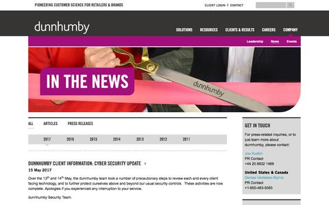 In the News | dunnhumby