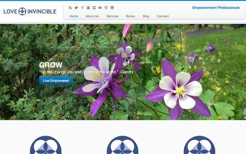 Screenshot of Home Page love-invincible.com - LOVE INVINCIBLE - captured Sept. 30, 2014