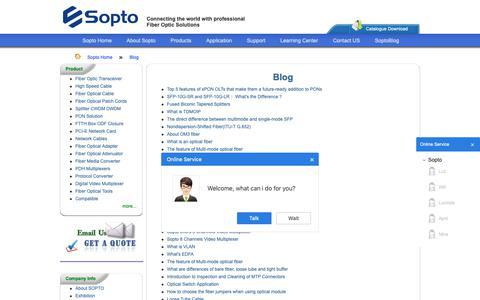 Screenshot of Blog sopto.com - Blog - captured Oct. 18, 2018