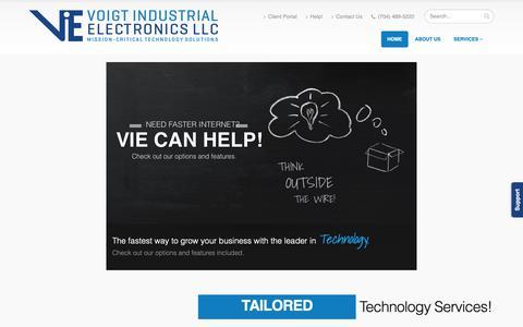 Screenshot of Home Page voigtie.com - Voigt Industrial Electronics LLC - captured Oct. 18, 2018