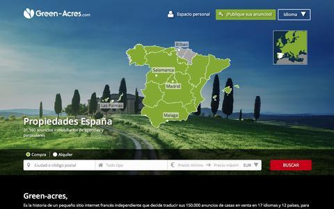 Screenshot of Home Page green-acres.es - Inmobiliaria España: casas en venta en España - captured Nov. 30, 2016