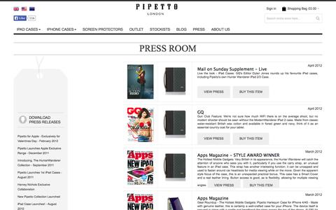 Screenshot of Press Page pipetto.co.uk - Pipetto in the Press | Pipetto News - captured Oct. 2, 2014