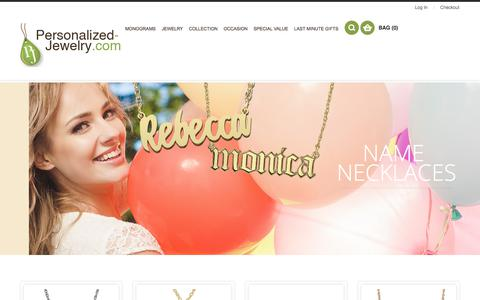 Screenshot of Home Page personalized-jewelry.com - Personalized Jewelry - captured June 30, 2018