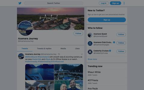 Tweets by Azamara Journey (@AzamaraJourney) – Twitter