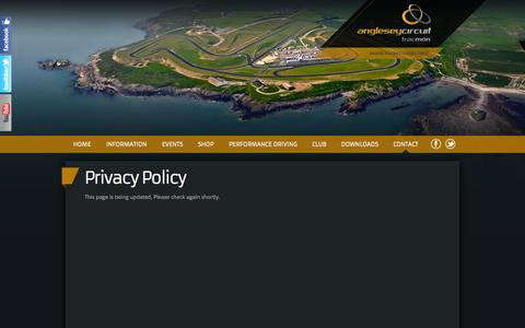 Screenshot of Privacy Page angleseycircuit.com - Privacy Policy - captured Sept. 30, 2014