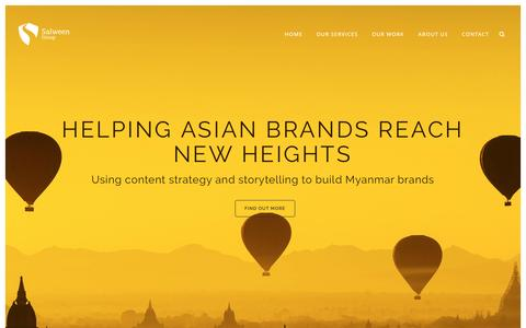 Screenshot of Home Page salweengroup.com - Salween Group | Content Marketing and Branding | Singapore | Myanmar - captured May 25, 2017