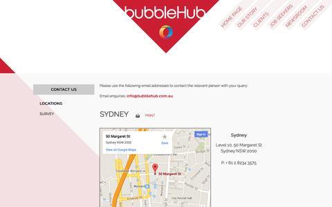 Screenshot of Locations Page bubblehub.com.au - Terms of Use - IT Jobs Australia - Recruitment Management - captured Nov. 3, 2014