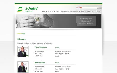 Screenshot of Team Page schutte.nl - Schutte.nl - Salesteam - captured Oct. 4, 2014