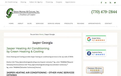 Jasper Heating Air Conditioning by Green Heating and Cooling
