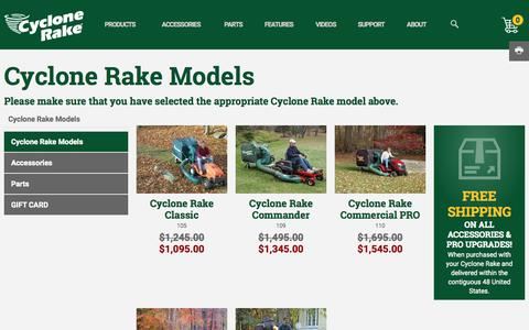 Screenshot of cyclonerake.com - Cyclone Rake Lawn Vacuum Systems | Cyclone Rake - captured Oct. 4, 2015