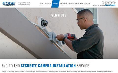 Screenshot of Services Page edgecctv.com - Business Security Camera Installation – Atlanta | Edge CCTV, Inc. - captured Sept. 27, 2018