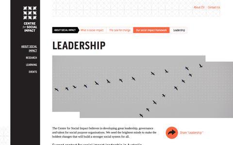 Screenshot of Team Page csi.edu.au - Leadership  | CSI - captured Oct. 26, 2014