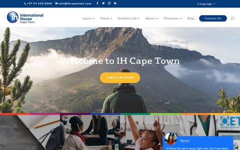 Screenshot of Home Page ihcapetown.com - Study English Abroad | Learn English In South Africa | IH Cape town - captured Oct. 12, 2018