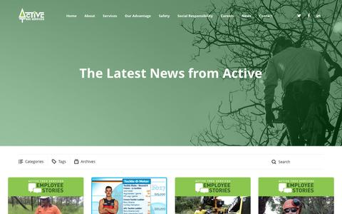 Screenshot of Press Page activetreeservices.com.au - News - Active Tree Services - Stay up-to-date with the latest news at Active Tree Services - captured May 29, 2017