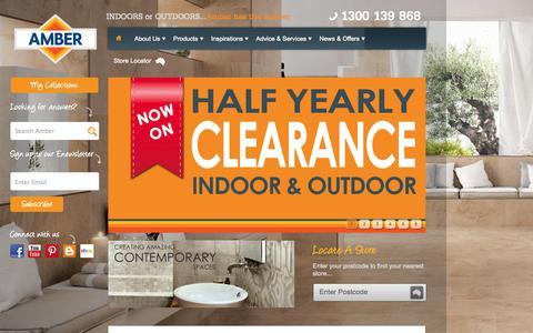 Screenshot of Home Page ambertiles.com.au - Amber Tiles - Sydney, Brisbane, Canberra, Newcastle & Wollongong - captured Jan. 27, 2015