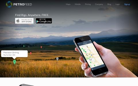 Screenshot of Home Page petrofeed.com - PetroFeed - The Oil and Gas Industry Network - captured Sept. 17, 2014